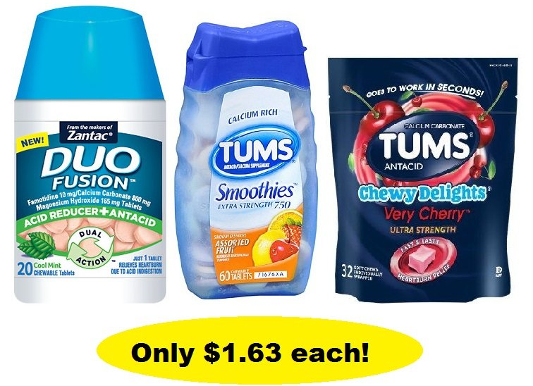 Tums and Duo Fusion $1 63 Each at Walgreens - ConsumerQueen com
