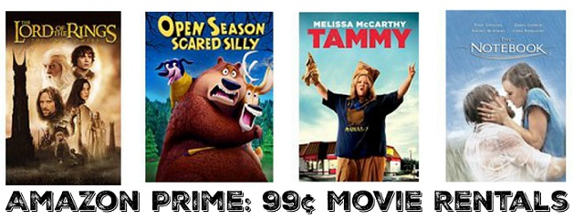 Amazon Prime: 99¢ Movie Rentals!