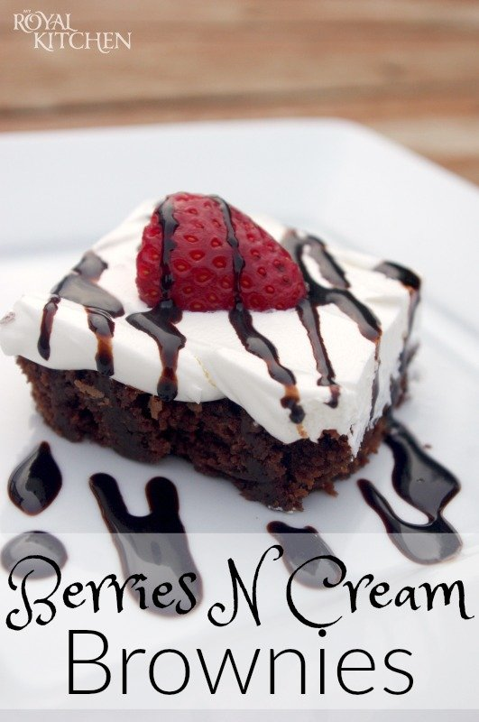 Berries N Cream Brownies