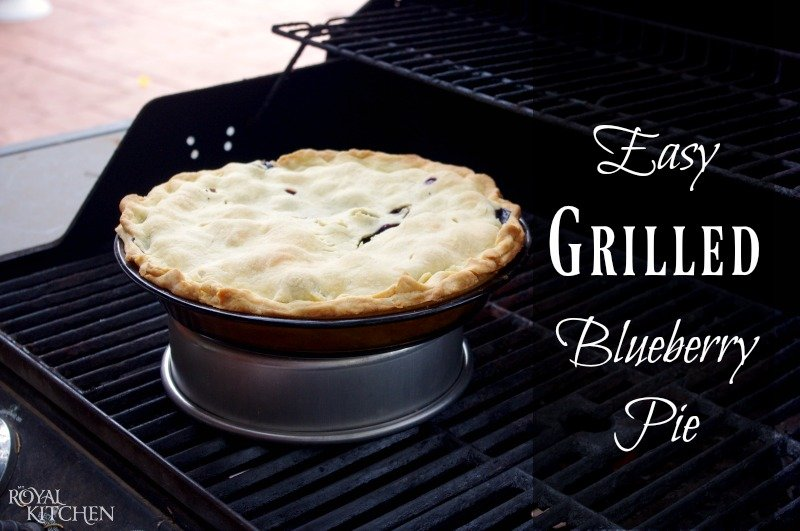 Easy Grilled Blueberry Pie