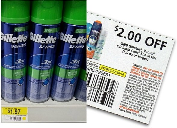 FREE Gillette Shave Gel at Walmart AND Target!