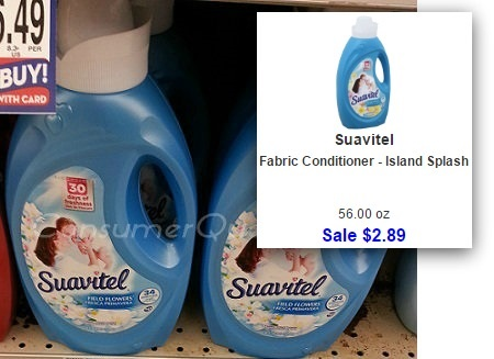 Suavitel Fabric Softener 89¢, Dryer Sheets 79¢ at Homeland!