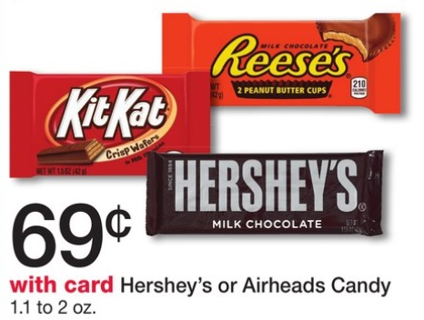 Hershey's Candy 33¢ at Walgreens