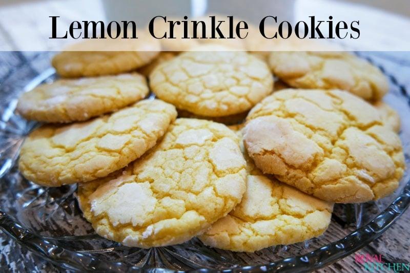 Lemon Crinkle Cookies Recipe