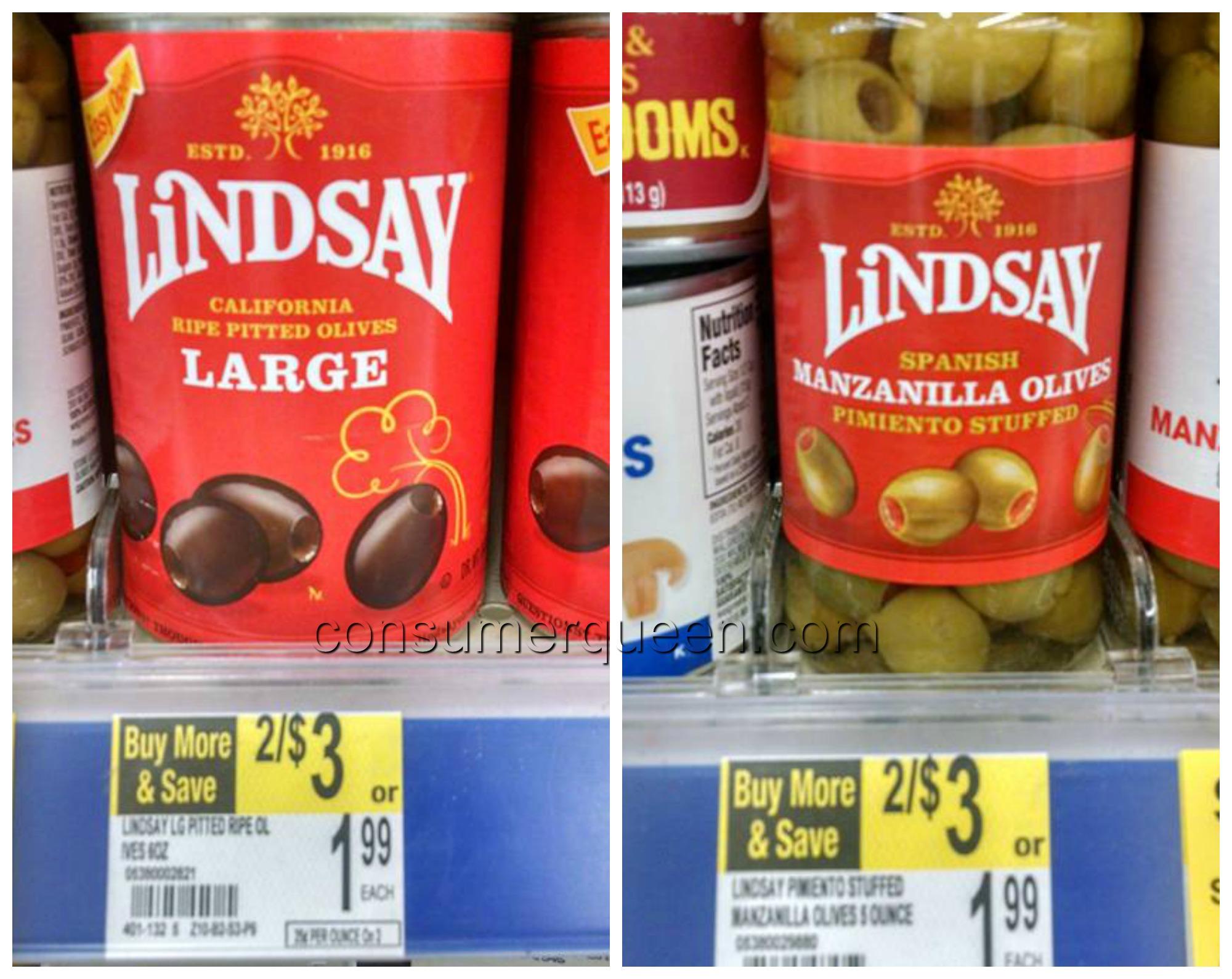 Lindsay Olives 37¢ at Walgreens