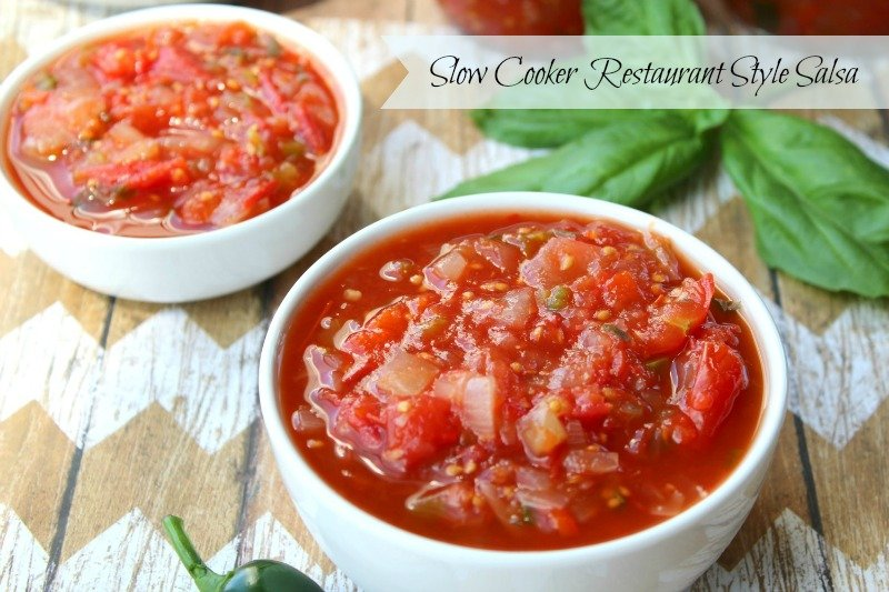 Slow Cooker Restaurant Style Salsa text