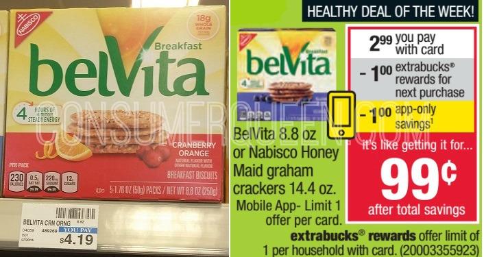 Belvita Breakfast Cookies Only 99¢ at CVS!