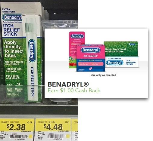 Benadryl Itch Relief Stick as Low as 38¢ at Walmart & Target!