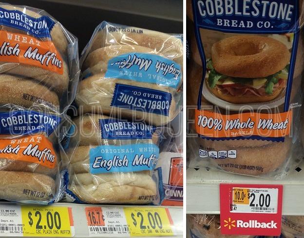 Cobblestone Bagels & English Muffins 90¢ at Walmart!