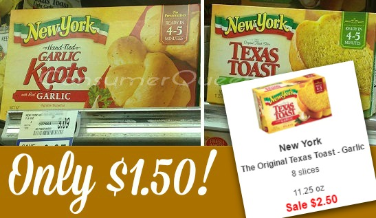 New York Texas Garlic Toast $1.50 at Homeland!