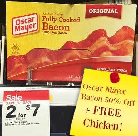 Oscar Mayer Bacon 50% Off + Plus FREE Tyson Chicken at Target!