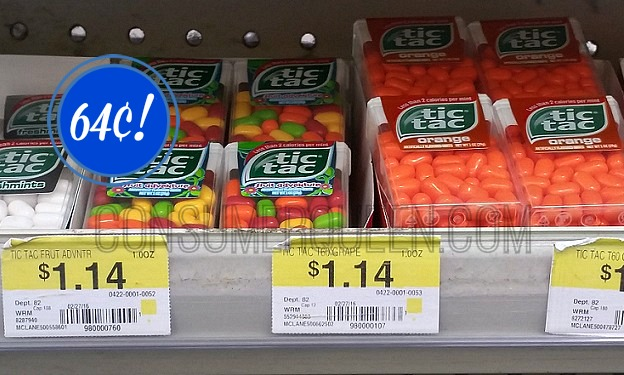 Tic Tac 60-ct. ONLY 64¢ at Walmart!