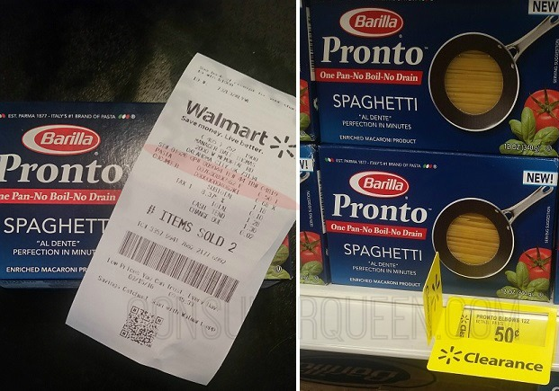 FREE + Profit Barilla Pronto Pasta at Walmart!