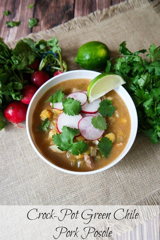 Crockpot Green Chile Pork posole 2 pinterest