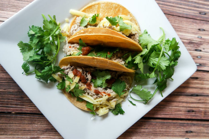 Slow Cooker Chicken Street Tacos