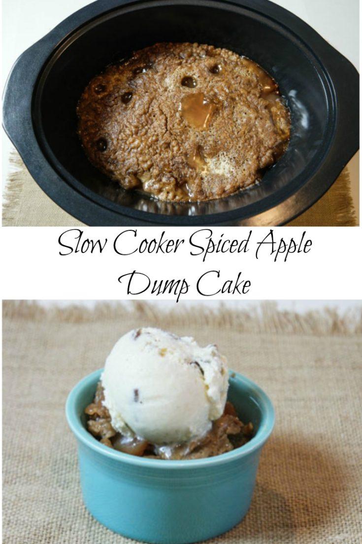 Slow cooker apple spice dump cake