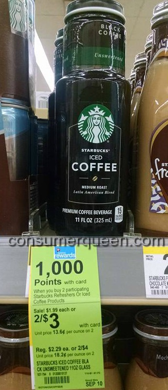 Starbucks Iced Coffee 49¢ at Walgreens