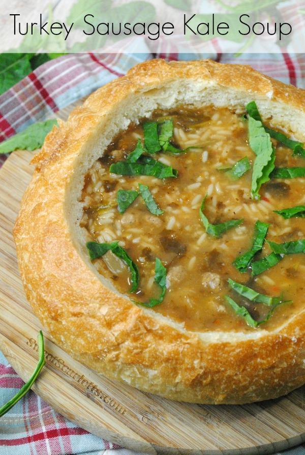 Turkey Sausage Kale Soup