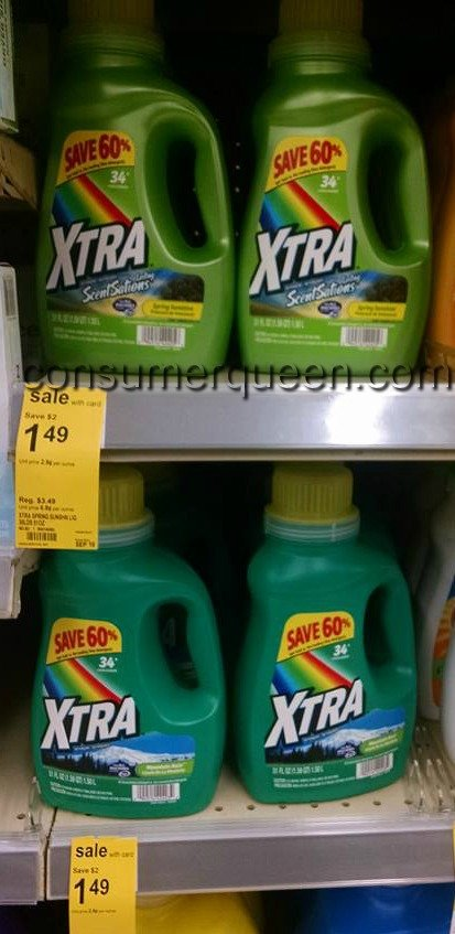 Xtra Detergent As Low As 93¢ at Walgreens
