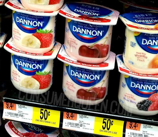 Dannon Whole Milk Yogurt as Low as 25¢ at Walmart!