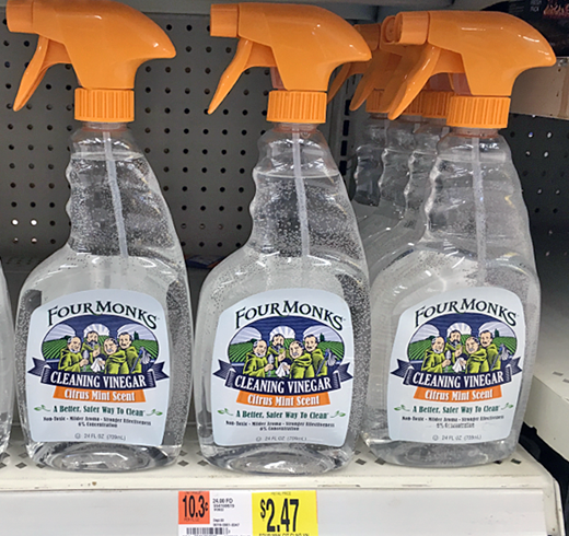 Four Monks Cleaning Vinegar FREE + Profit at Walmart!