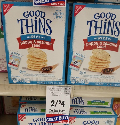 Nabisco Good Thins Crackers as Low as 75¢ at Homeland!