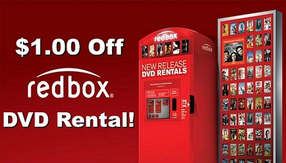 $1.00 Off Redbox DVD Rental!