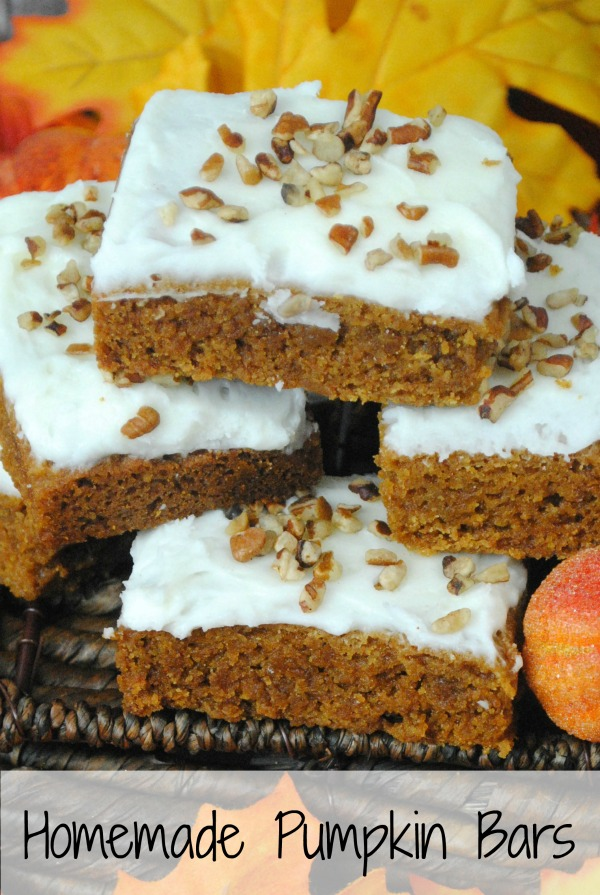 Homemade Pumpkin Bars