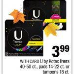 Kotex Tampons 49¢ at CVS!