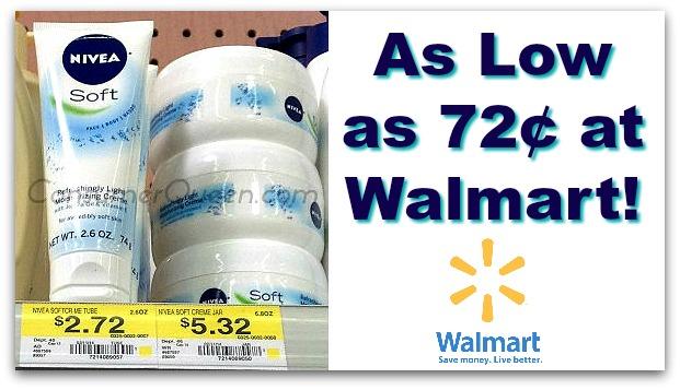 Nivea Soft Body Lotion 72¢ at Walmart!