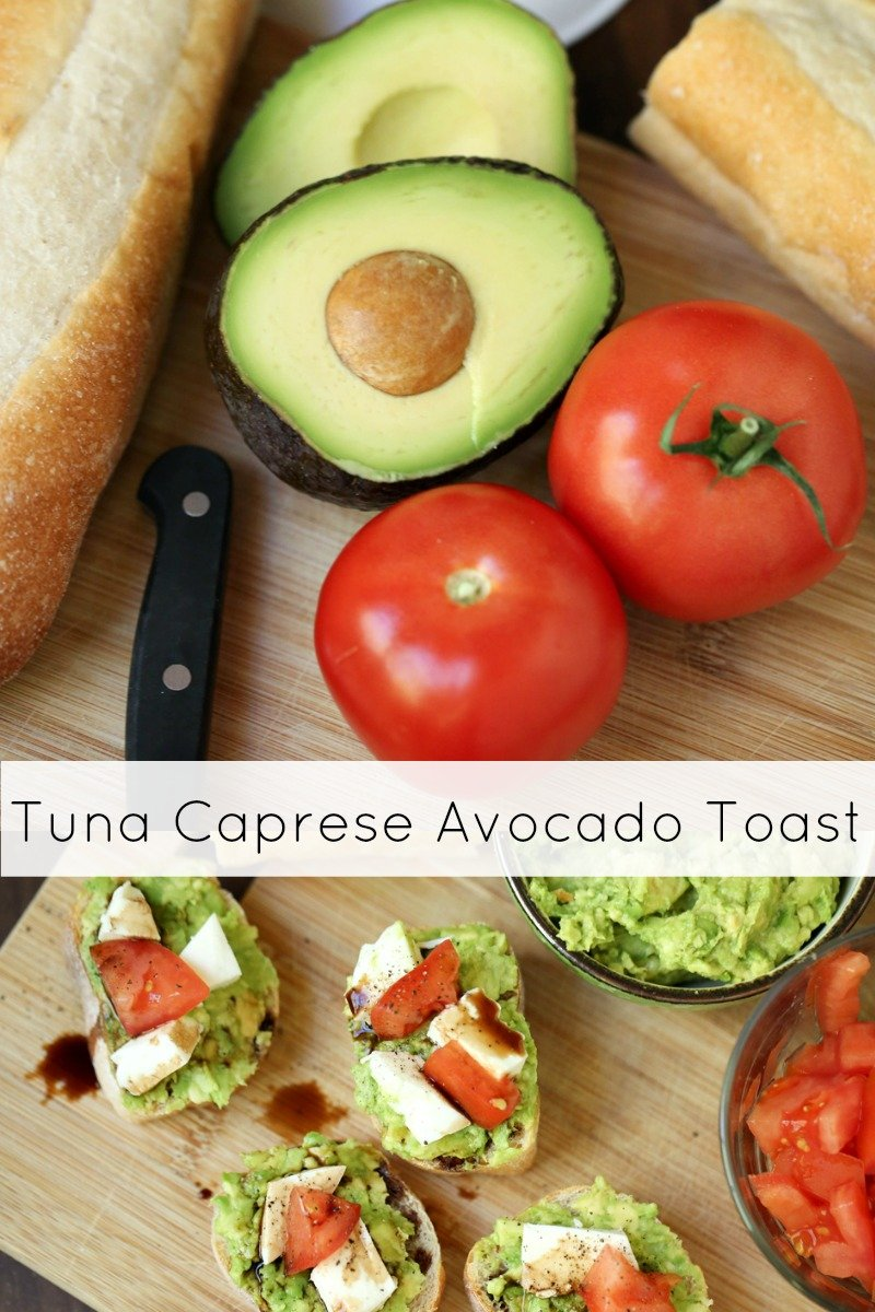 Tuna Caprese Avocado Toast