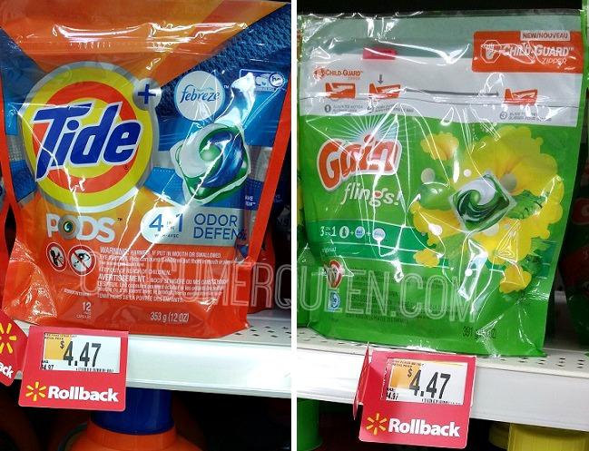 Tide Pods, Gain Flings $2.47 at Walmart, $2.44 at CVS!