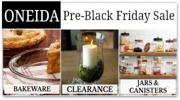 Oneida Pre-Black Friday Sale : Up to 80% Off + Additional 20% Off Code!