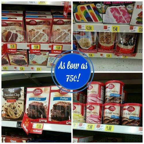 betty crocker cake  cookie and brownie mixes 75 u00a2 at walmart