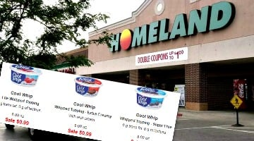Cool Whip 44¢ This Week at Homeland Grocery!