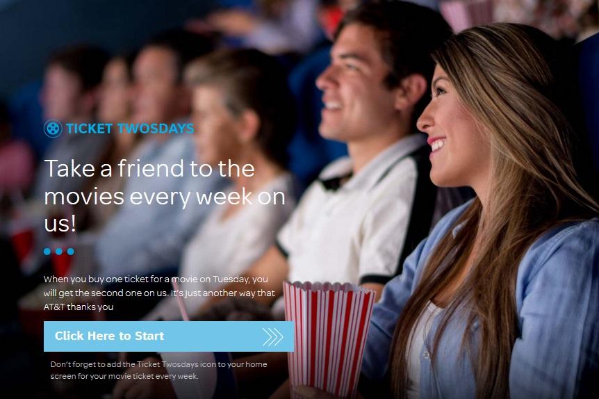 AT&T WIRELESS MOVIE TICKETS