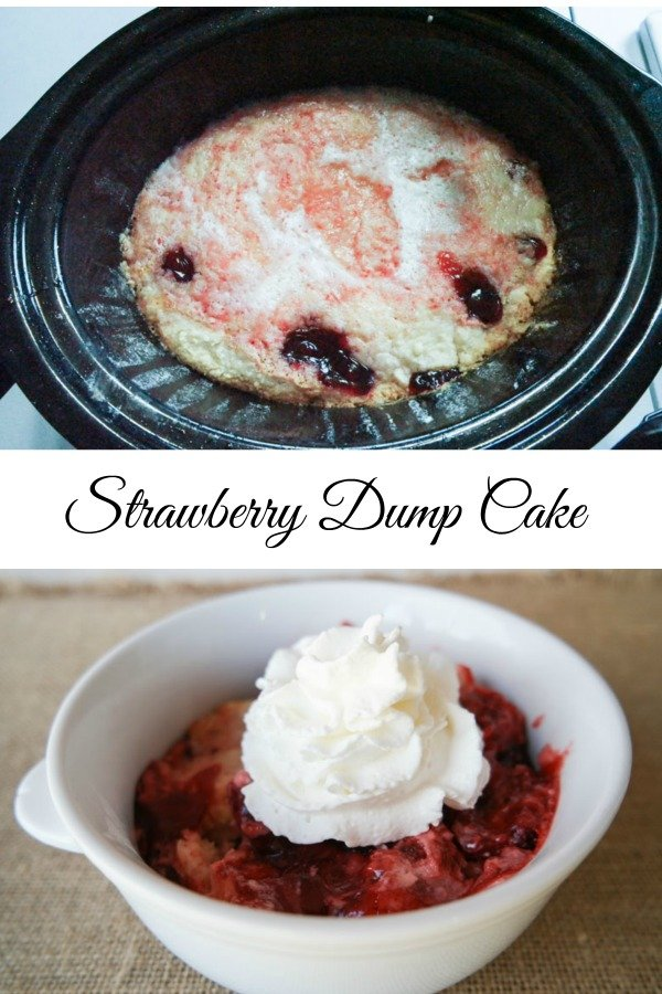 Strawberry Dump Cake Pinterest
