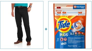 Grab Faded Glory Men's Jeans AND Tide Pods 31-Count Package Only $11.73!