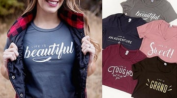 Inspirational Tees ONLY $14.97 Shipped at Cents of Style!