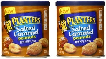 Planters Salted Caramel Peanuts ONLY $1.05 per Can on Amazon!