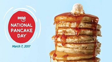 FREE Pancakes at IHOP March 7 – That's Today!