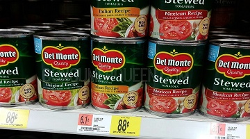 Del Monte Canned Tomatoes 50¢ per Can at Walmart!