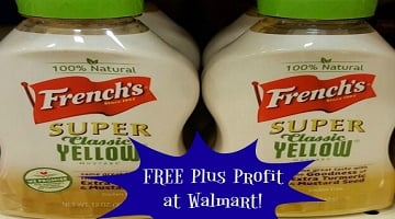 FREE + Profit French's Super Classic Mustard at Walmart