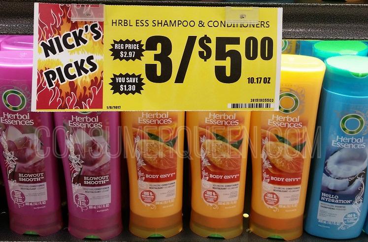Herbal Essences Shampoo & Conditioner 17¢ at Crest Foods!