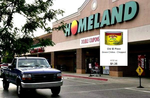 old el paso green chilies 35 at homeland country mart. Black Bedroom Furniture Sets. Home Design Ideas