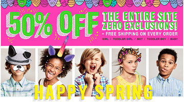 Spring Sale : 50% Off EVERYTHING at The Children's Place (Free Shipping!)