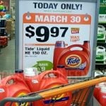Hurry! HUGE Tide HE Liquid Detergent 150 oz Only $9.97 (Reg. $18.97) at Home Depot!