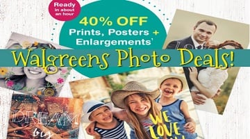 Walgreens Photo: 40% Off Prints, Posters & Enlargements (and Other Deals!)