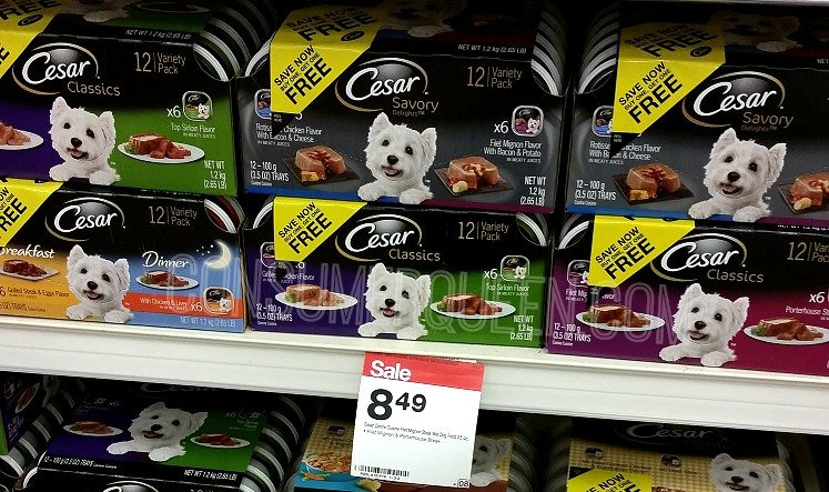 photograph regarding Free Printable Cesar Dog Food Coupons named Cesar Canine Meals 12-pk as Reduced as $3.61 (30¢ for every bath) at Aim!