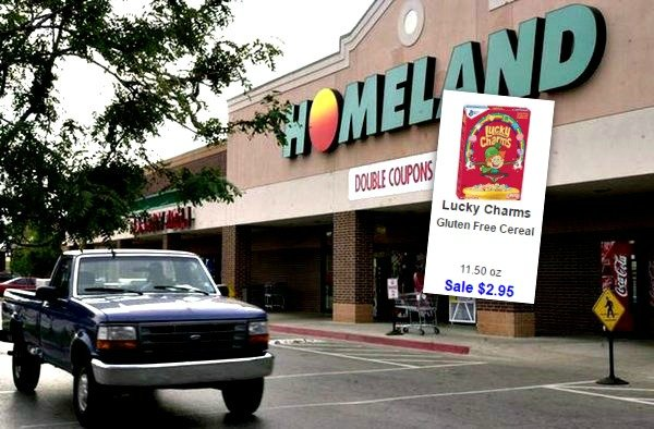 lucky charms cereal at homeland country mart with new coupon. Black Bedroom Furniture Sets. Home Design Ideas